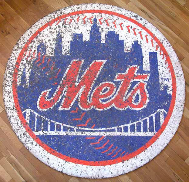 Lot detail shea stadium used ny mets quot on deck quot batting circle