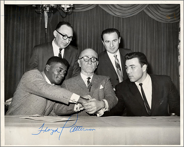 Floyd Patterson Signed Original Wire Photograph