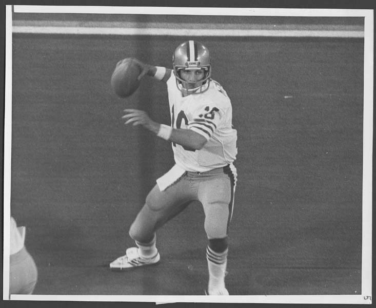 Joe Montana Super Bowl XVI Original Wire Photograph