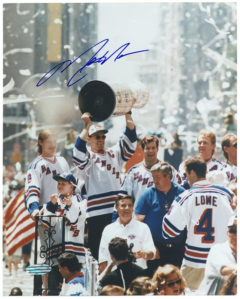 Mark Messier Signed Stanley Cup Photograph