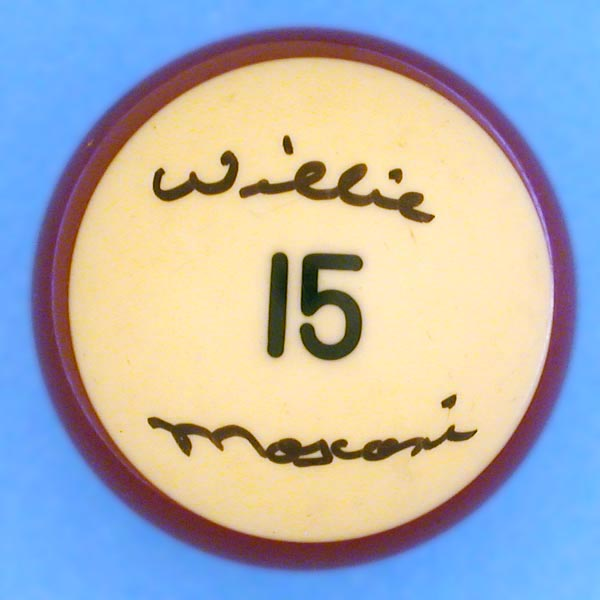 Willie Mosconi Signed Billiards Ball
