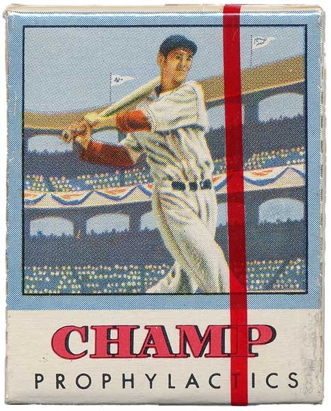 Ted Williams Original Champs Prophylactics Circa 1950s
