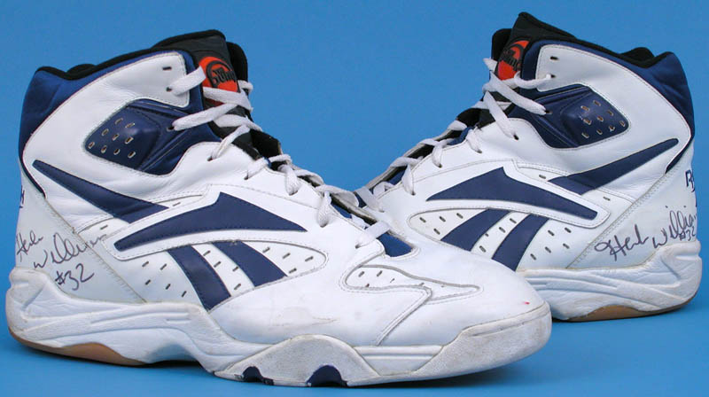 Item Detail - Herb Williams Game Used & Signed Basketball Shoes