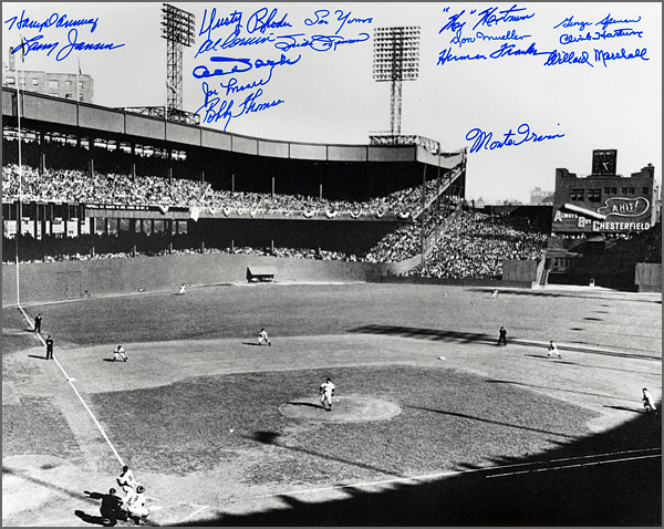 New York Giants Oversize Polo Grounds Photograph Signed by 16