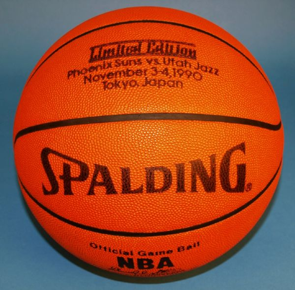 Phoenix Suns vs Utah Jazz 1990 Tokyo Japan Limited Edition Game Used Basketball