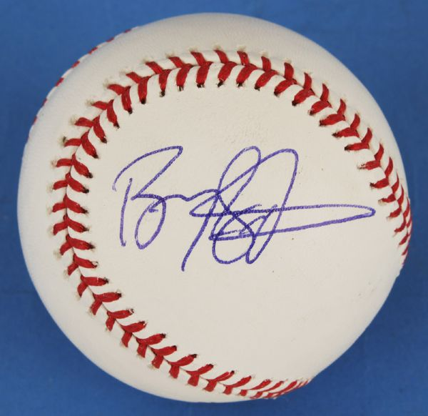 Barry Sanders Signed Official Major League Baseball
