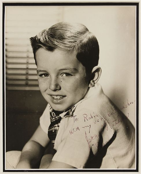 Leave It To Beaver's Jerry Mathers & Tony Dow Vintage Cast Signed Publicity Photographs