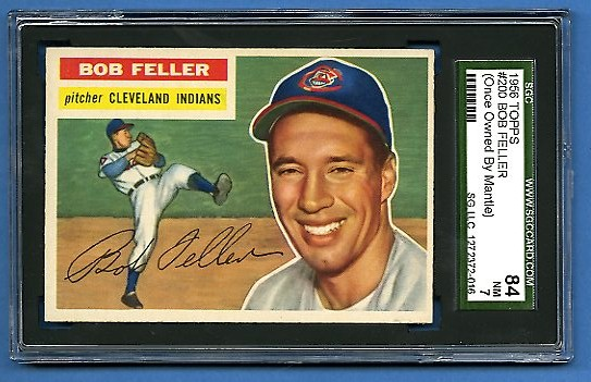 Lot Detail Mickey Mantles Personally Owned 1956 Topps