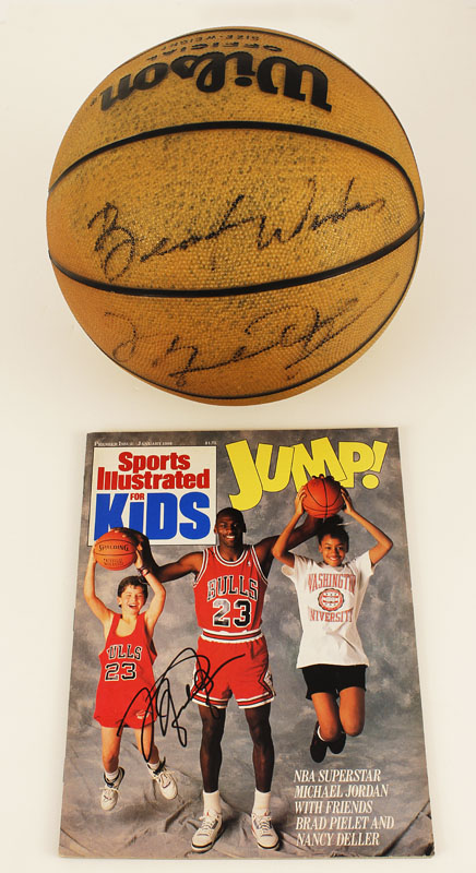 check out 88bca f7c0f Lot Detail - Michael Jordan Vintage Signed Basketball with ...