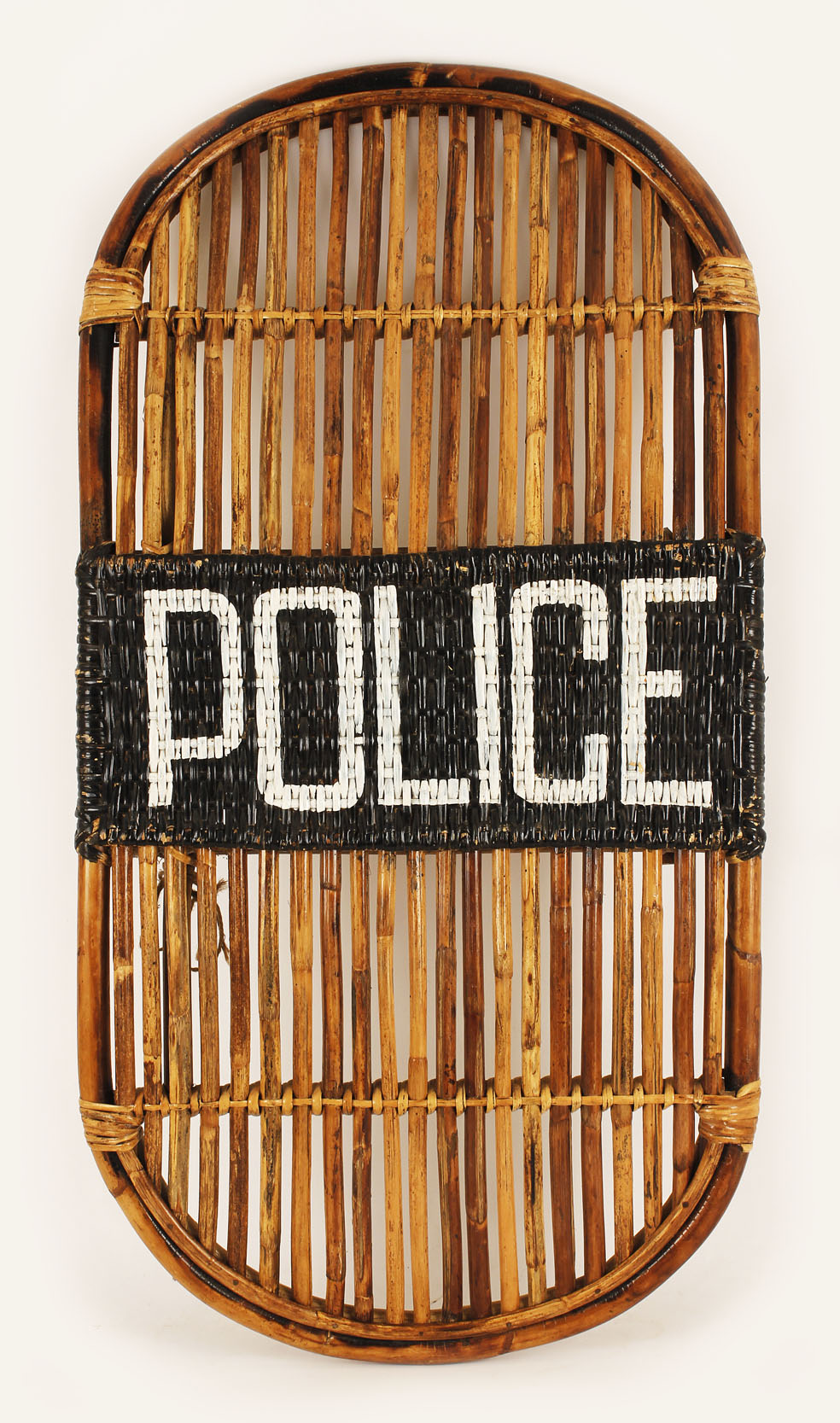 Item Detail - Historical Bamboo POLICE Riot Shield