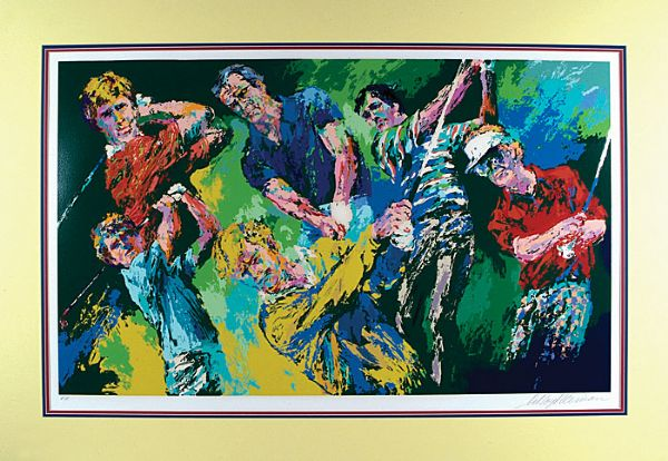"LeRoy Neiman Signed Golf Winners Limited ""Printers Proof"" Edition Serigraph"
