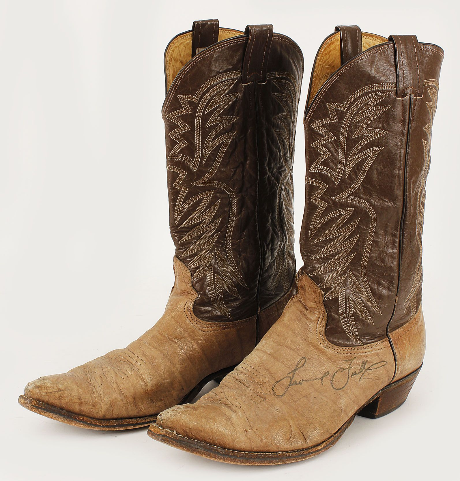Lot Detail - Laurence Fishburne Film Worn and Signed Cowboy Boots