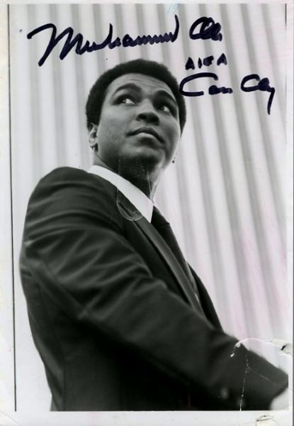 Muhammad Ali Signed AKA Cassius Clay Photograph