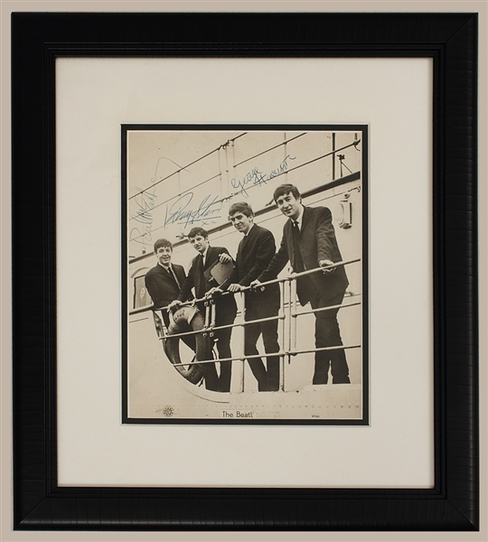The Beatles Photograph Signed by Harrison, McCartney & Ringo