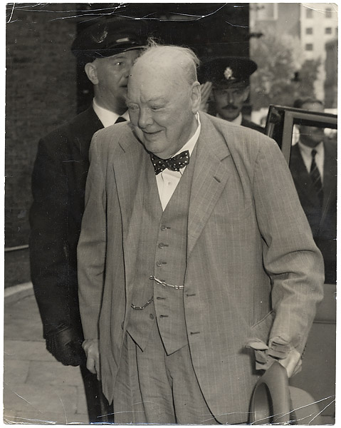 Winston Churchill Original Wire Photograph