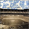 Brooklyn Dodgers World Series Photograph Signed by 43