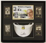 "Arnold Palmer Signed ""Masters Tournament"" Visor Display"