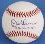 "Don Larsen Signed ""PG 10-8-56"" Official Major League Baseball"