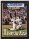 Joe Girardi Signed 1998 World Series Celebration Picture