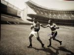 Ken Norton Signed Gigantic Photograph Chasing Ali at Yankee Stadium