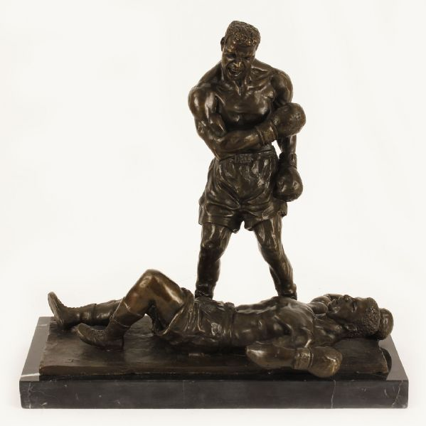 Cassius Clay Over Sonny Liston Limited Edition Bronze Sculpture