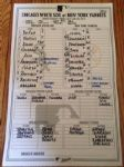 Historic 2012 NY Yankees Line-Up Card Jeter Ties Ripken All-Time Hit List