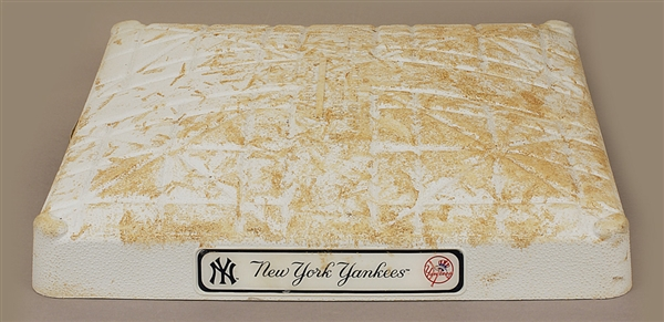 2013 Yankee Stadium Game-Used 2nd Base (Season High Scoring Game)