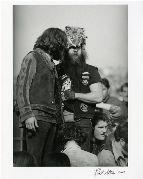 The Hells Angels at Altamont Photograph Signed by Photographer Robert Altman