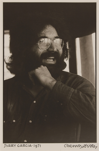 Jerry Garcia Photograph Signed by Photographer Henry Diltz